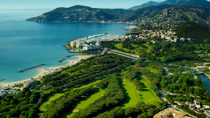 The Old Course golf course at Mandelieu on the French Riviera