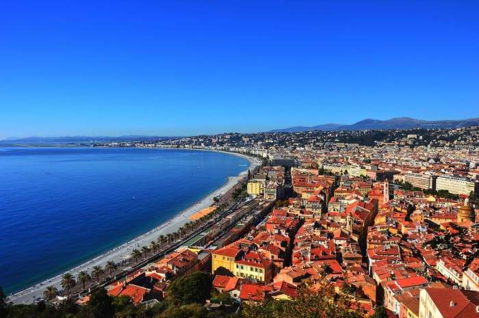 The view from Castle Hill in Nice, France