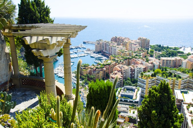 View over Fontvieille in Monaco
