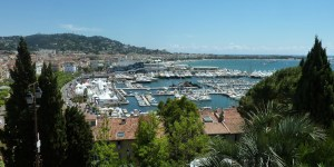 View of the Port of Cannes from Le Suquet