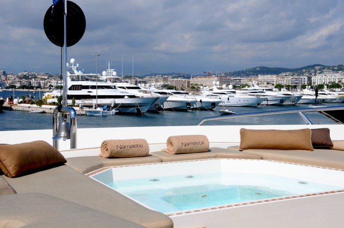 Yacht at Cannes Yachting Festival in Cannes Port Canto