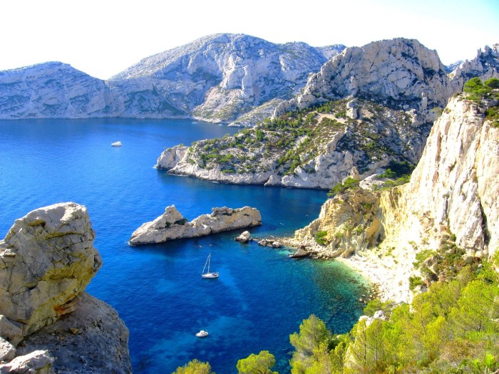 Stunning scenery in the Calanques near Marseille, France