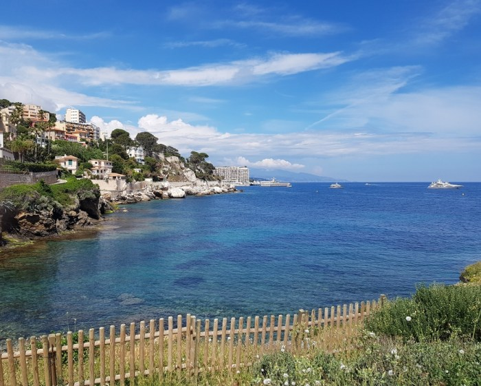 Sentier Littoral - walking on Cap d'Ail near Monaco