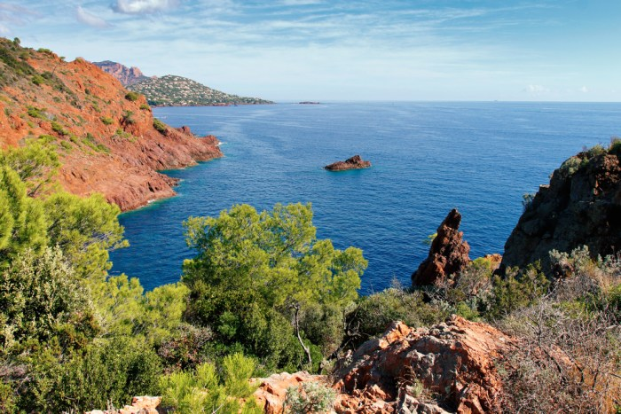 The Esterel coast near Cannes in the south of France