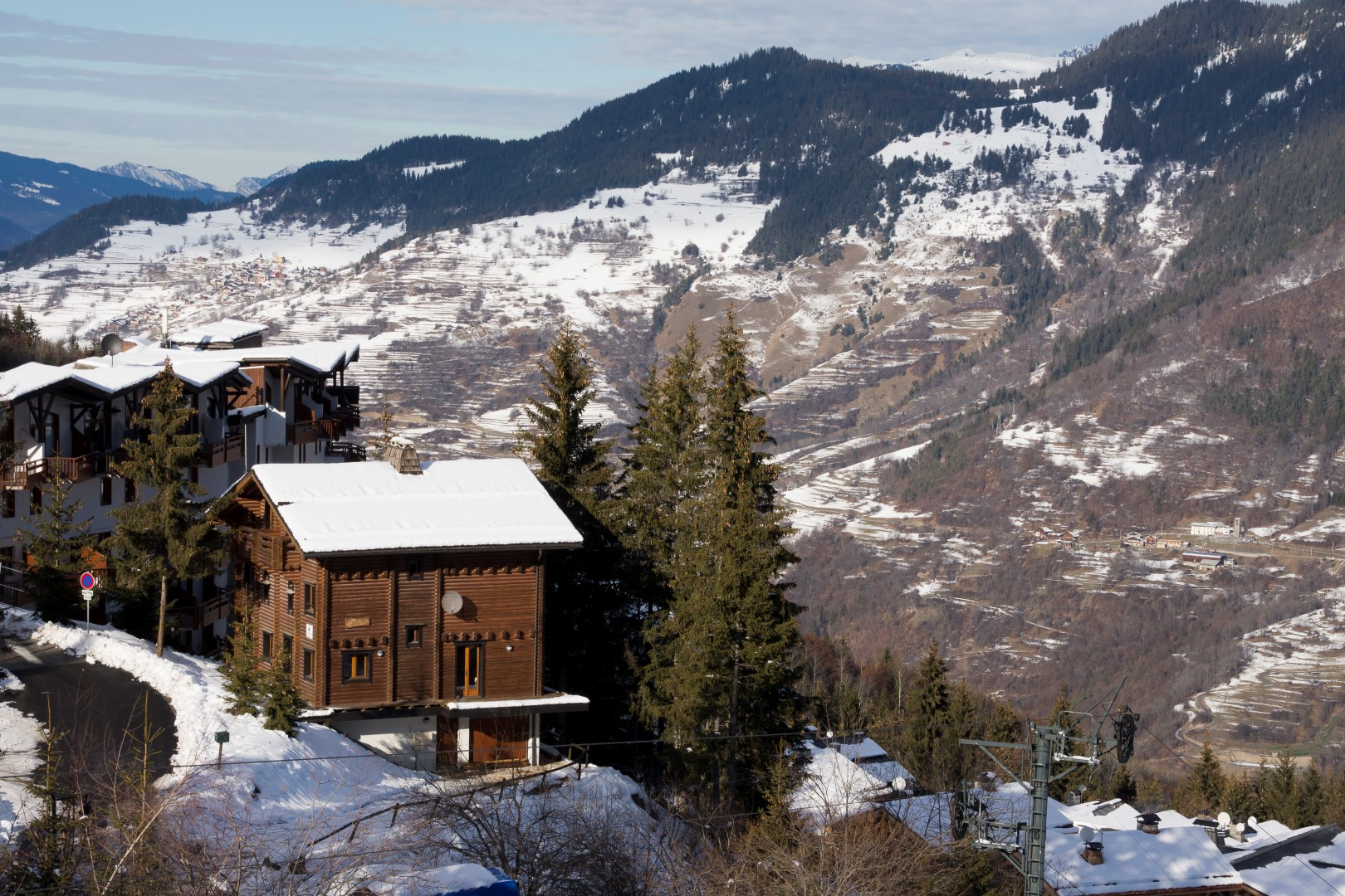 chalet from above