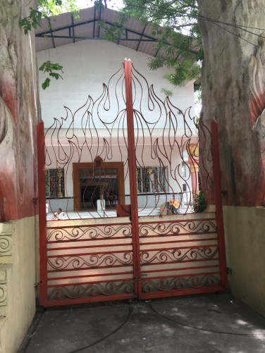 Entrance to an interesting Hindu temple in Bangalore