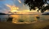 Coucher de soleil, Port Barton