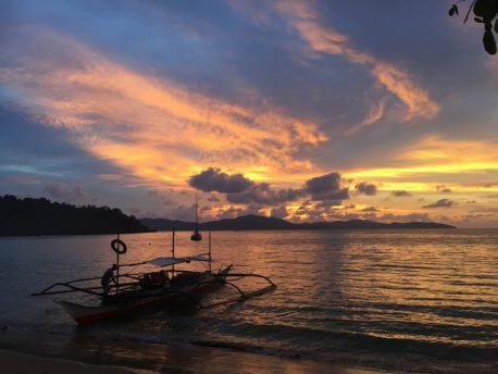 Coucher de Soleil à Port Barton, Palawan, Philippines