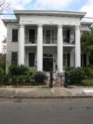 Southern Mansion, Garden District, New Orleans Louisiana: If scale is everything, well then this one has a problem: where is the rest of the Temple that goes with those columns? Don't you just love electrical, phone lines in photography? I know I can edit these things out, but then I would never finish this story and photo-documentary.