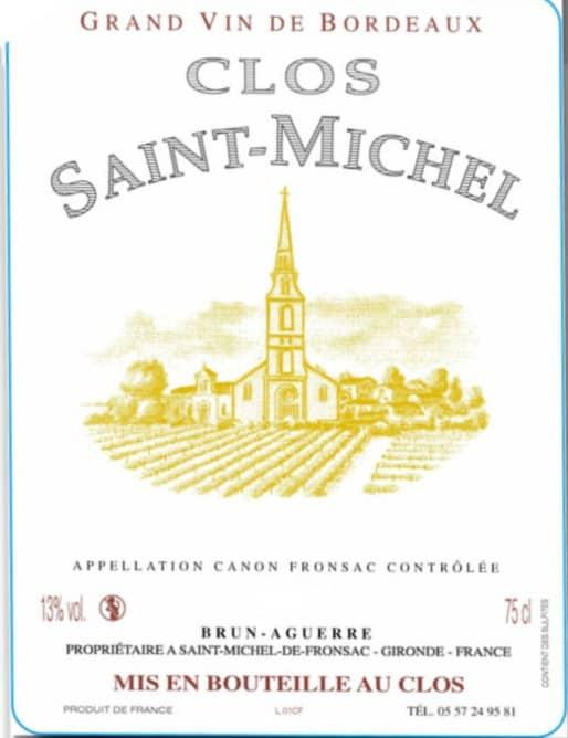 Clos Sr Michel label