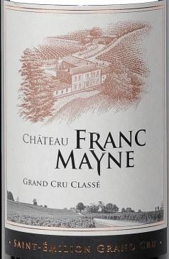 Chateau Franc Mayne label