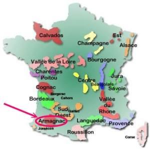France map - Armagnac