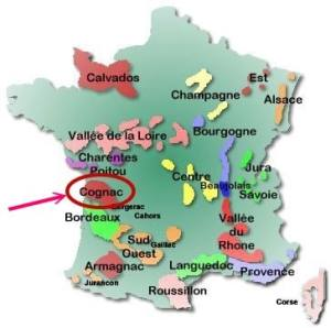 Map Of France Jura.French Brandy Cognac And Armagnac Production