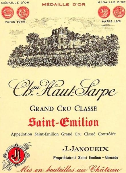 Ch Haut-Sarpe label