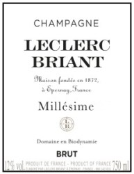 Leclerc Briant wine label