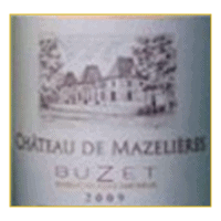 Chateau de Mazelieres Buzet wine label