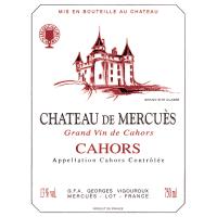 Chateau de Mercues Cahors wine label