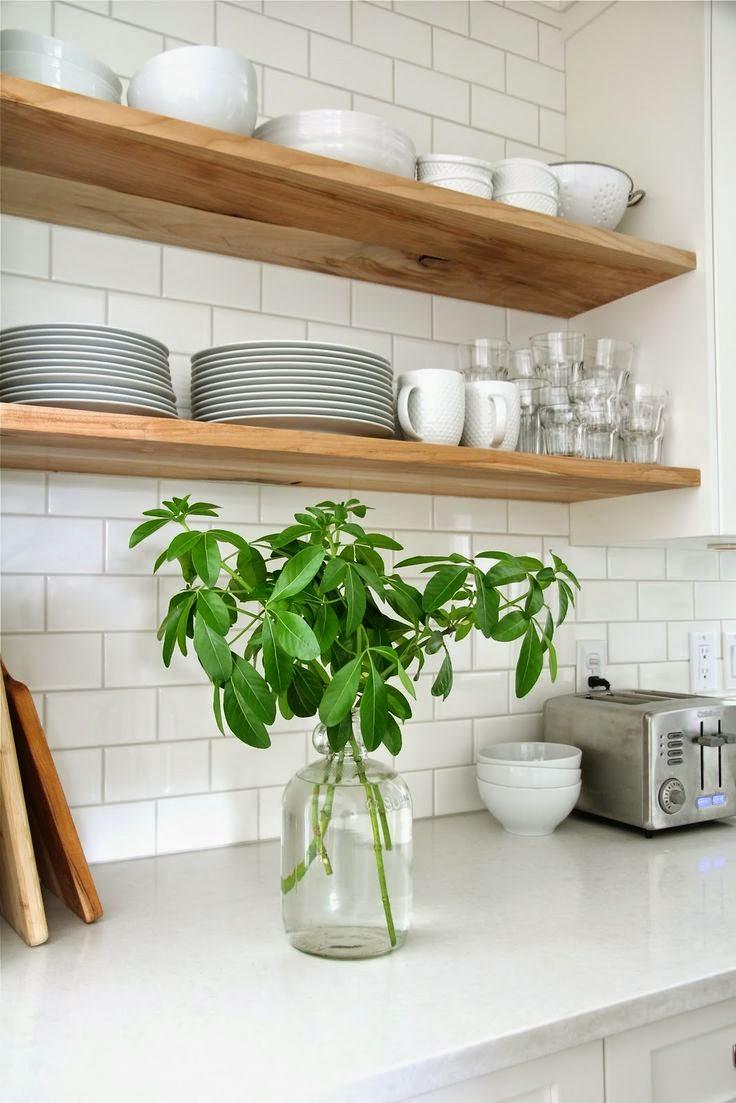 10 cuisines avec des etageres ouvertes
