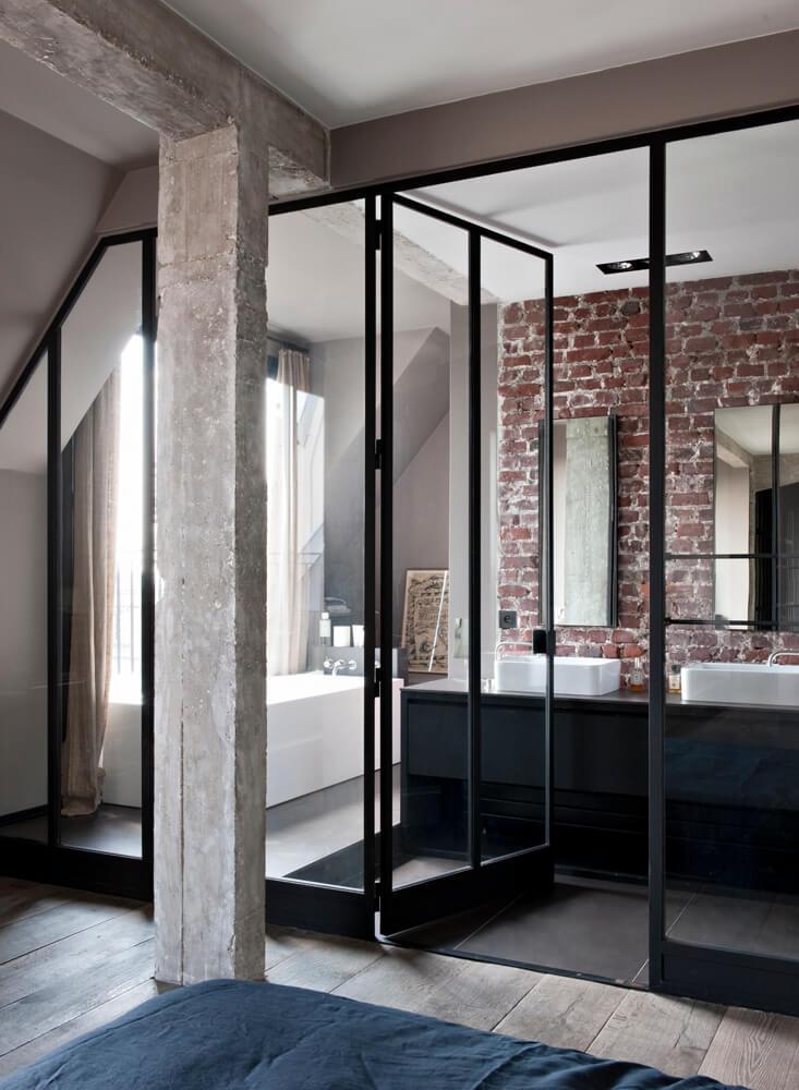 portes fenetres aluminium noir style atelier verriere frenchyfancy 2 2 frenchy fancy. Black Bedroom Furniture Sets. Home Design Ideas