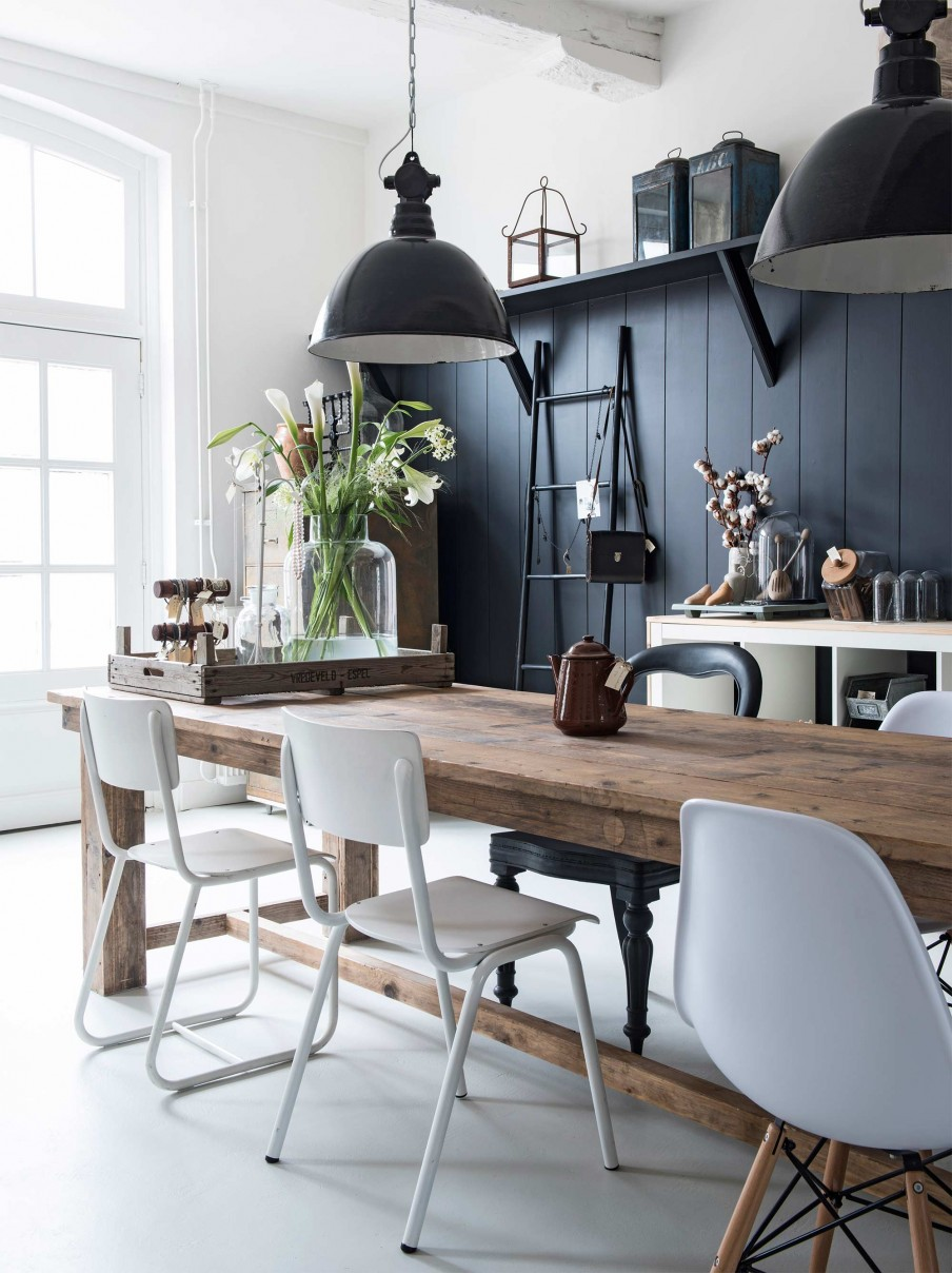 decoration style campagne et shabby chic scandinave