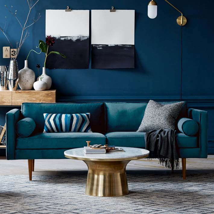 Grey And Teal Sofa