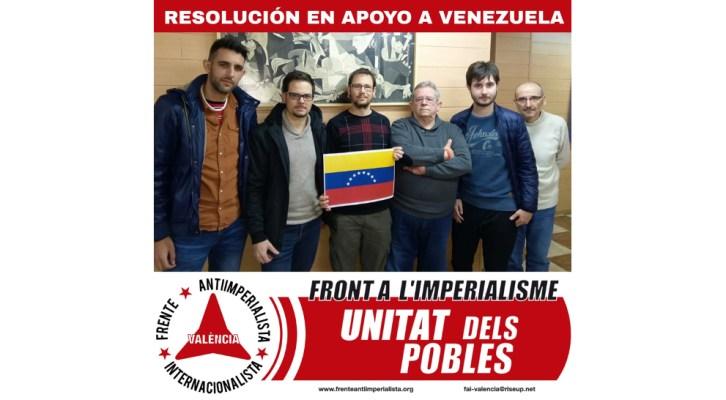 Resolución del Comité de Valencia del Frente Antiimperialista Internacionalista FAI, sobre Venezuela, por los acontecimientos del 10 de enero