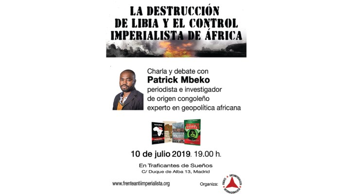 Charla - debate sobre Libia y África, con Patrick MBEKO