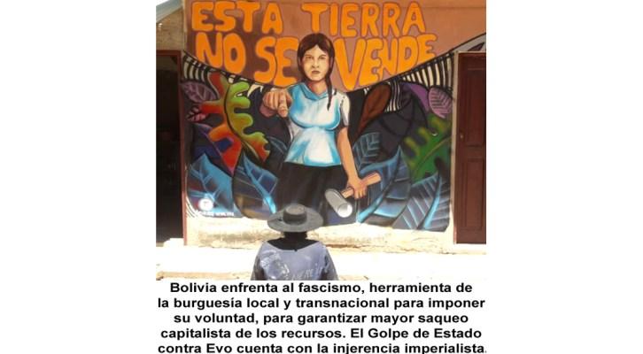 Golpe de Estado en Bolivia para profundizar el saqueo capitalista