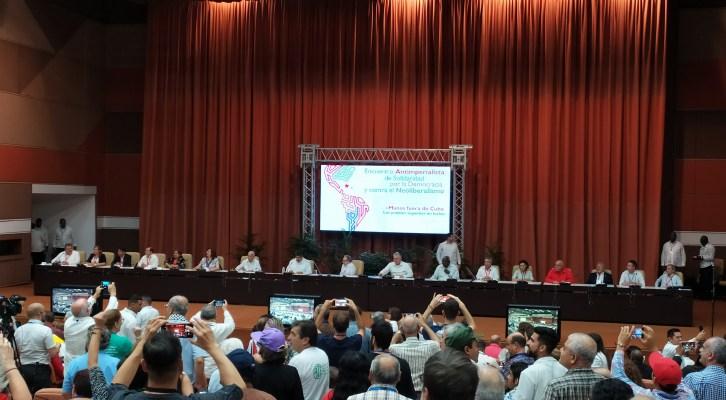 Reportaje sobre el Encuentro Antiimperialista de Solidaridad, por la Democracia y contra el Neoliberalismo de la Habana