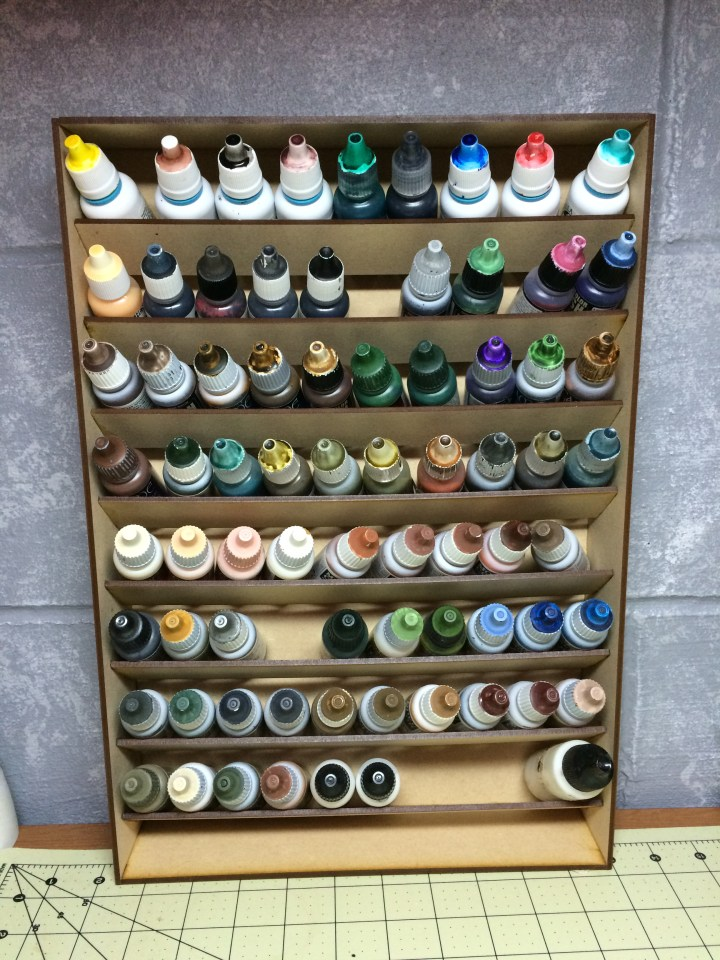 Shelf for 72 dropper bottles