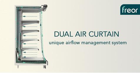dual air curtain freor