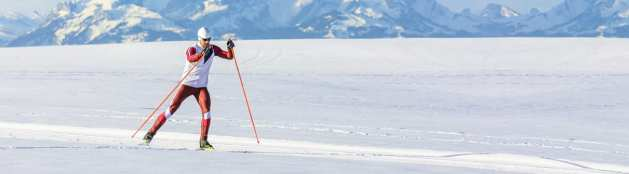 Ski de fond entraînement hiver