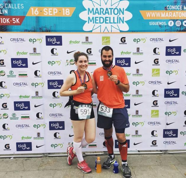 Marjorie & Simon au Marathon de Medellín