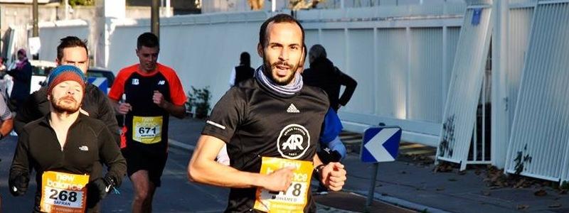 Mohamed au semi de Boulogne avec FREQUENCE Running