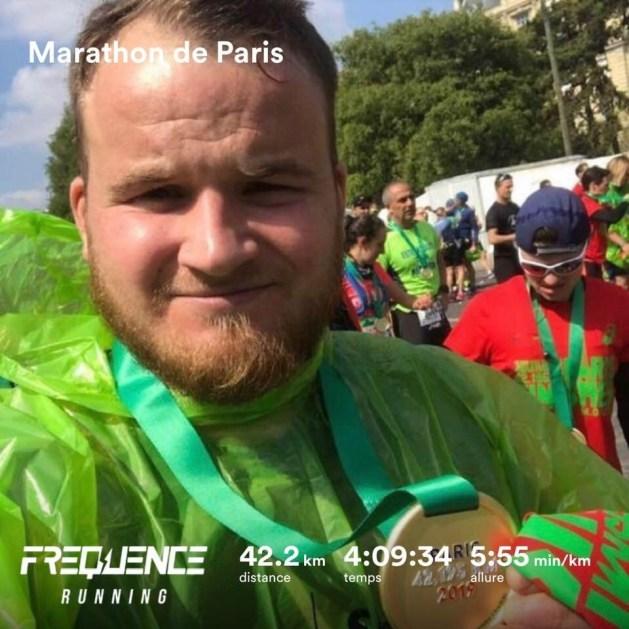 Kevin au marathon de paris