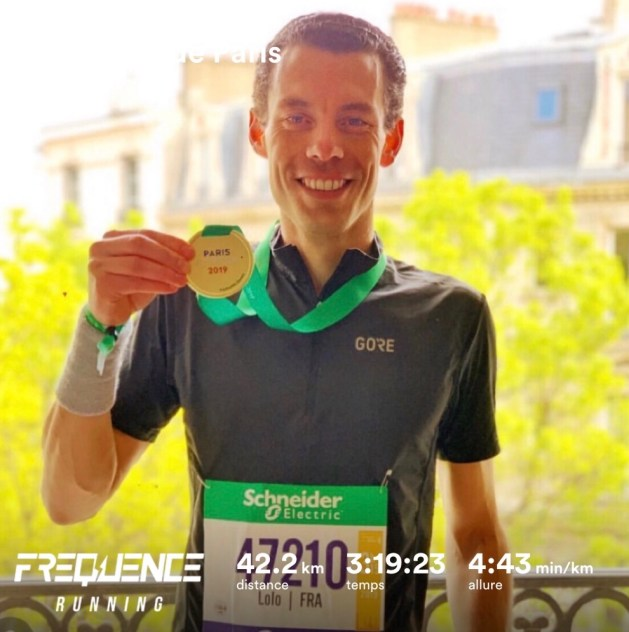 Laurent au marathon de paris