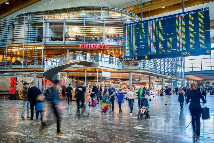 store arealer Oslo lufthavn