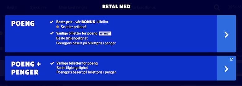 kombinere bonusbestillinger eurobonus