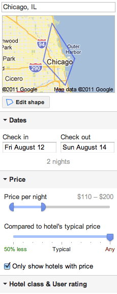 Review of Google's new Hotel Finder metasearch tool ...