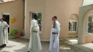 Frère Mervy (Abidjan) et le frère Jacques-Benoît Rauscher (Fribourg)