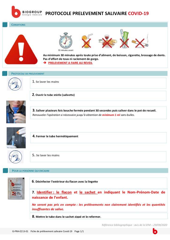 thumbnail of G-PRA-E213-01 – Fiche de prélèvement salivaire covid19 entonnoir Affiche