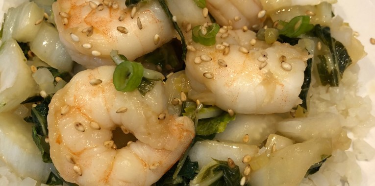 Bok Choy & Shrimp Stir-Fry