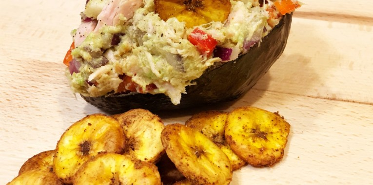 Chipotle Lime Tuna Salad with Spicy Tex-Mex Plantain Chips