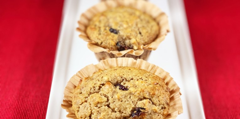 Grain-Free Orange Cranberry Breakfast Muffins