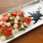 Cherry Tomato Caprese with Balsamic Reduction