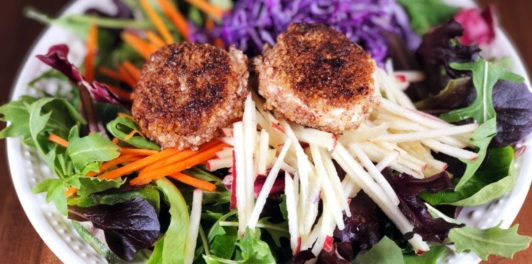 Pecan Crusted Goat Cheese Salad