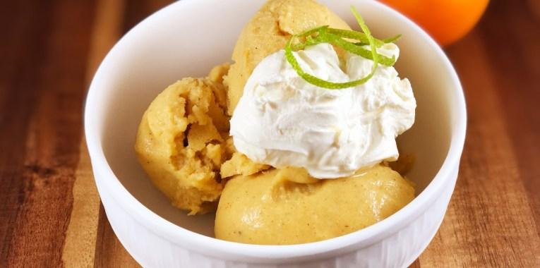 Spiced Persimmon Ice Cream