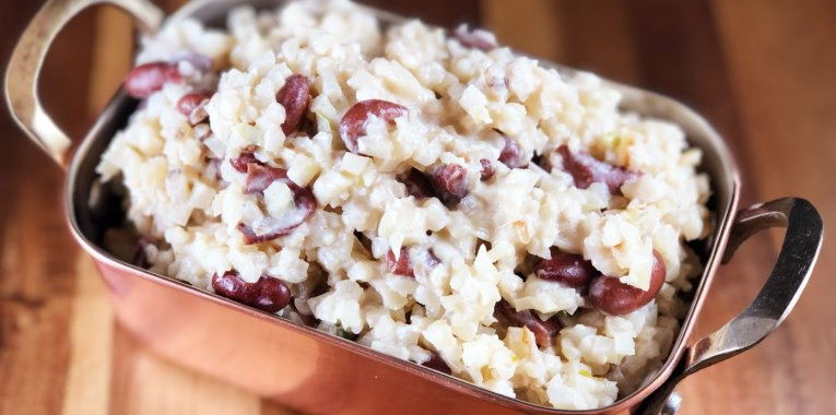 Jamaican Style Cauliflower Rice and Peas