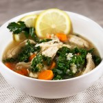 Lemony Chicken and Cauliflower Rice Soup