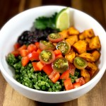 Green Cauliflower Rice and Sweet Potato Bowl